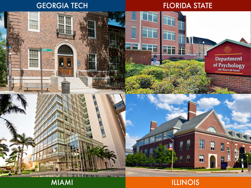 collage of 4 college buildings