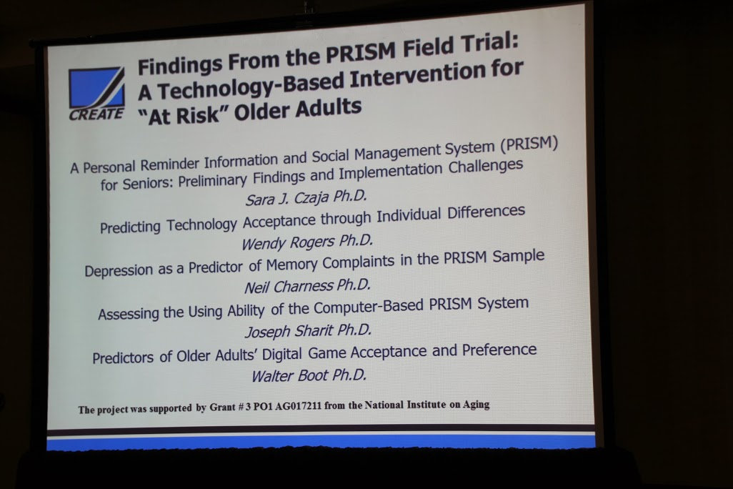 poster reading Findings from the Prism Field Trial