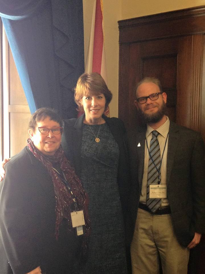 Wally Boot with Representative Gwen Graham