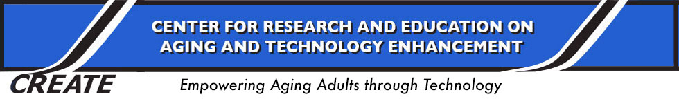 text reading Center for research and education on aging and technology enhancement