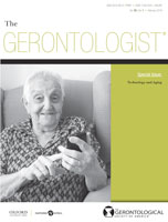 cover of periodical Gerontology