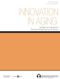 cover of periodical Innovation in Aging